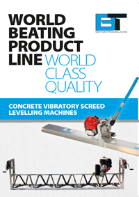 Concrete screed levelling machines