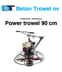 Power trowel BT90H160 - BT90H270 - BT90E