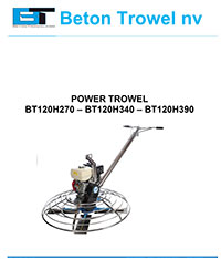 bt120h270 - bt120h340 - bt120h390 power trowel 2016
