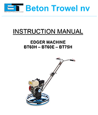 BT60H - BT60E - BT75H Edger Trowel