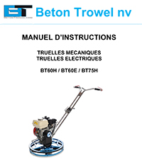 BT60H - BT60E - BT75H Edger Trowel FR