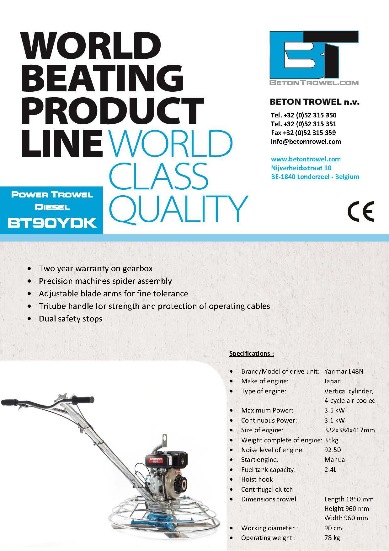 Power trowel BT90YDK