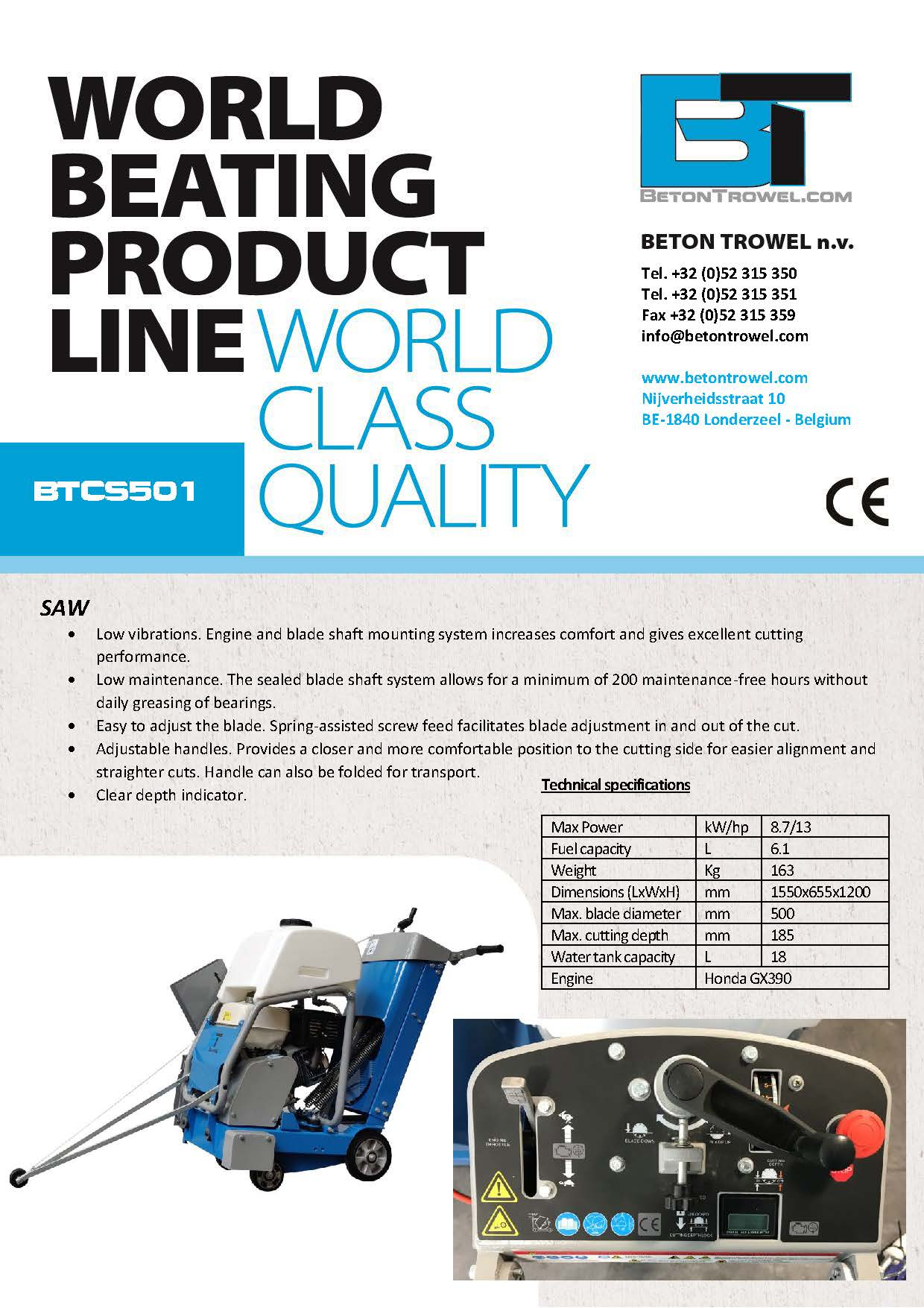 BTCS501-Concrete floor saw